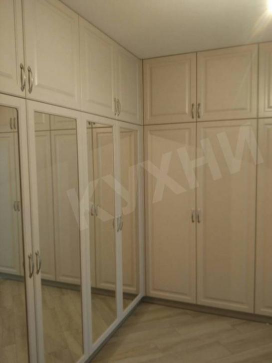 Шкафы МДФ Клайд цвет Сатин Бежевый