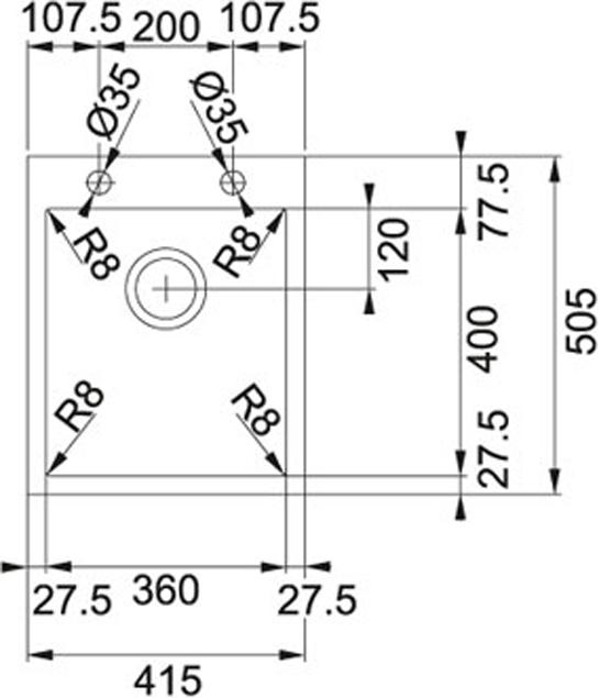Franke Planar 8-PEX 210-42 TL