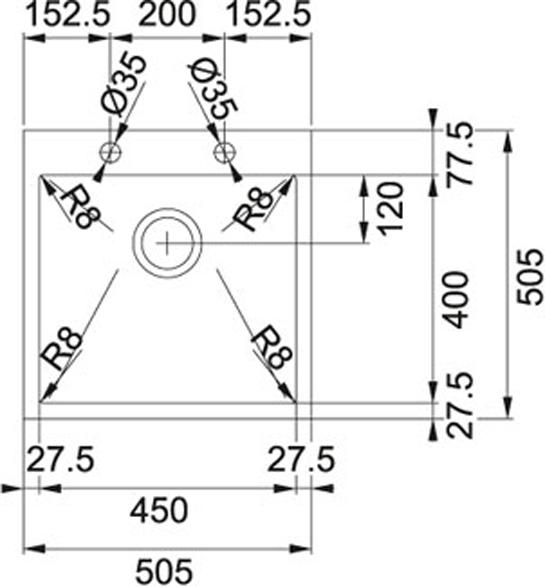 Franke Planar 8-PEX 210-51 TL