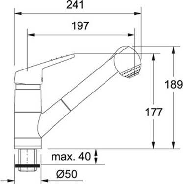 Franke160/Выдвижной душ