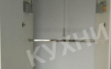 Кухня Крашеный МДФ RAL 7024 матовый ручки GIUSTI 0005/ Постформинг ТУЯ ручки GIUSTI 0005
