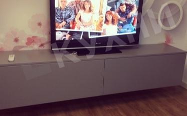 Подвесная тумбочка под TV Крашеный МДФ RAL №7045  матовый